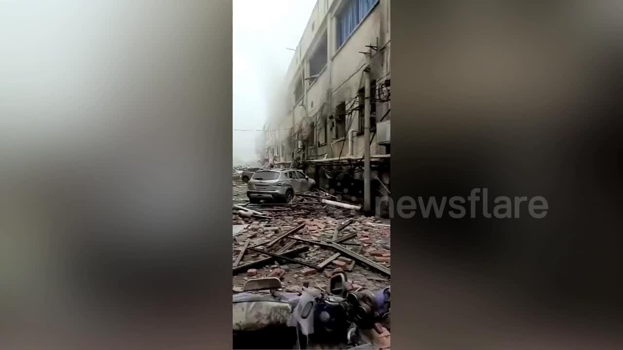 At least 12 killed in huge gas explosion in Shiyan, China