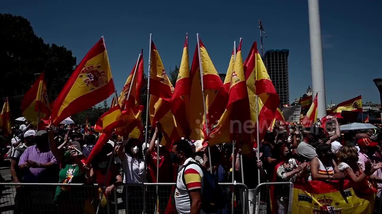 25,000 rally in Madrid against pardon of 2017 separatists leaders