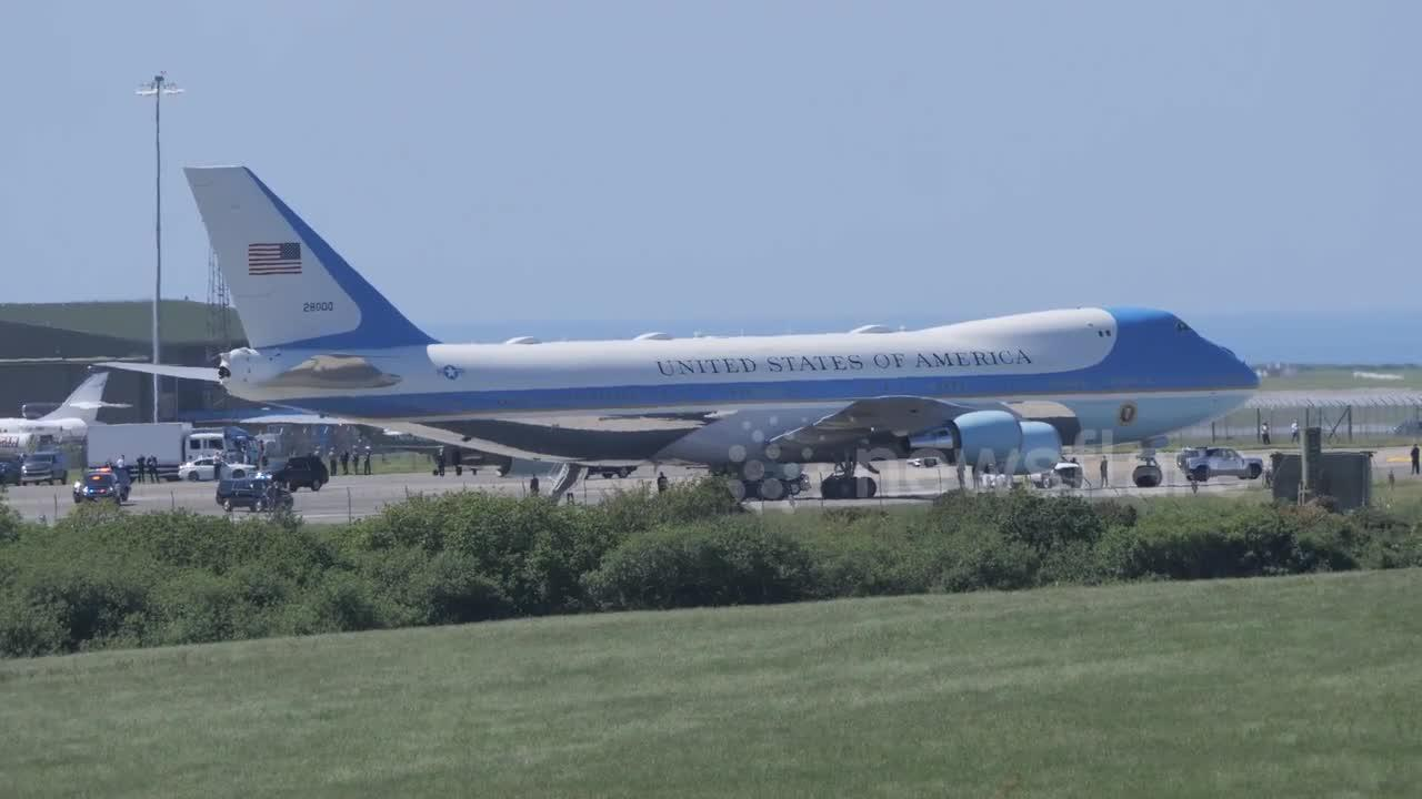 G7 Summit: President Joe Biden and his wife depart Cornwall Airport for Windsor Castle