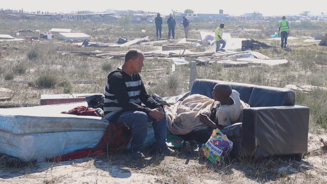 New settlement for homeless named 'COVID-19' in South Africa
