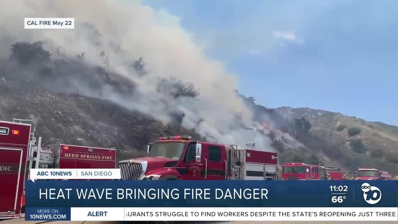 Cal Fire in peak staffing as heat wave approaches