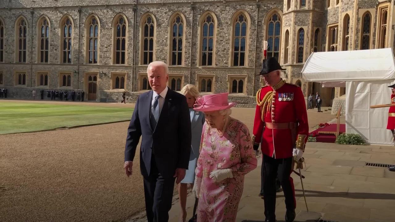 The Queen hosts Bidens at Windsor Castle