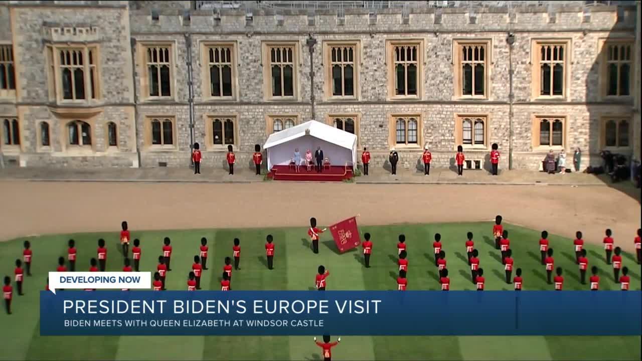 President Biden meets with Queen Elizabeth at Windsor Castle