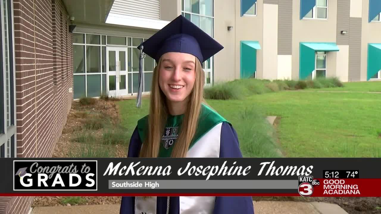 Congrats to Grads: McKenna Josephine Thomas