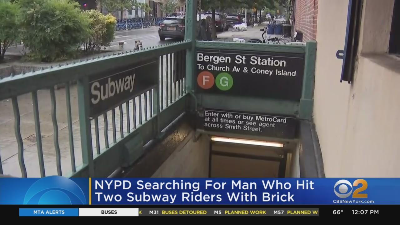 Subway Riders Hit With Brick