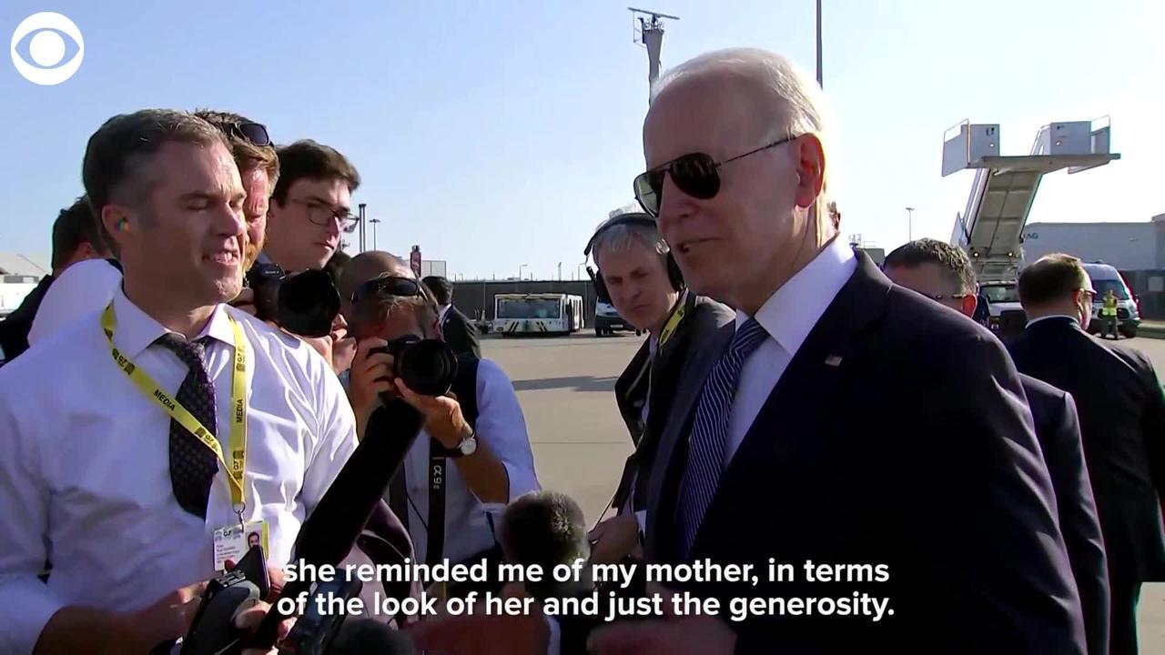 WEB EXTRA: President Biden Says Queen Elizabeth Reminds Him Of His Mother
