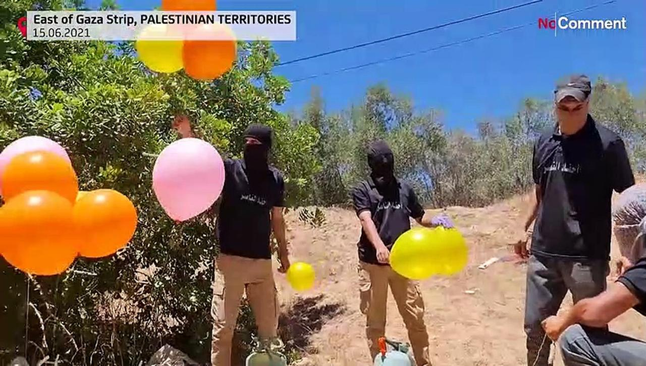 Activists fire incendiary balloons towards Israel, several arrested ahead of right-wing march