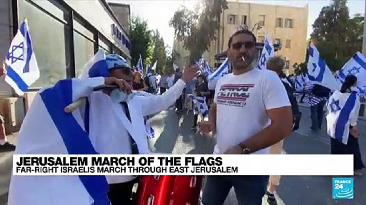 Jerusalem march of the flags: Far-right Israelis march in east Jerusalem