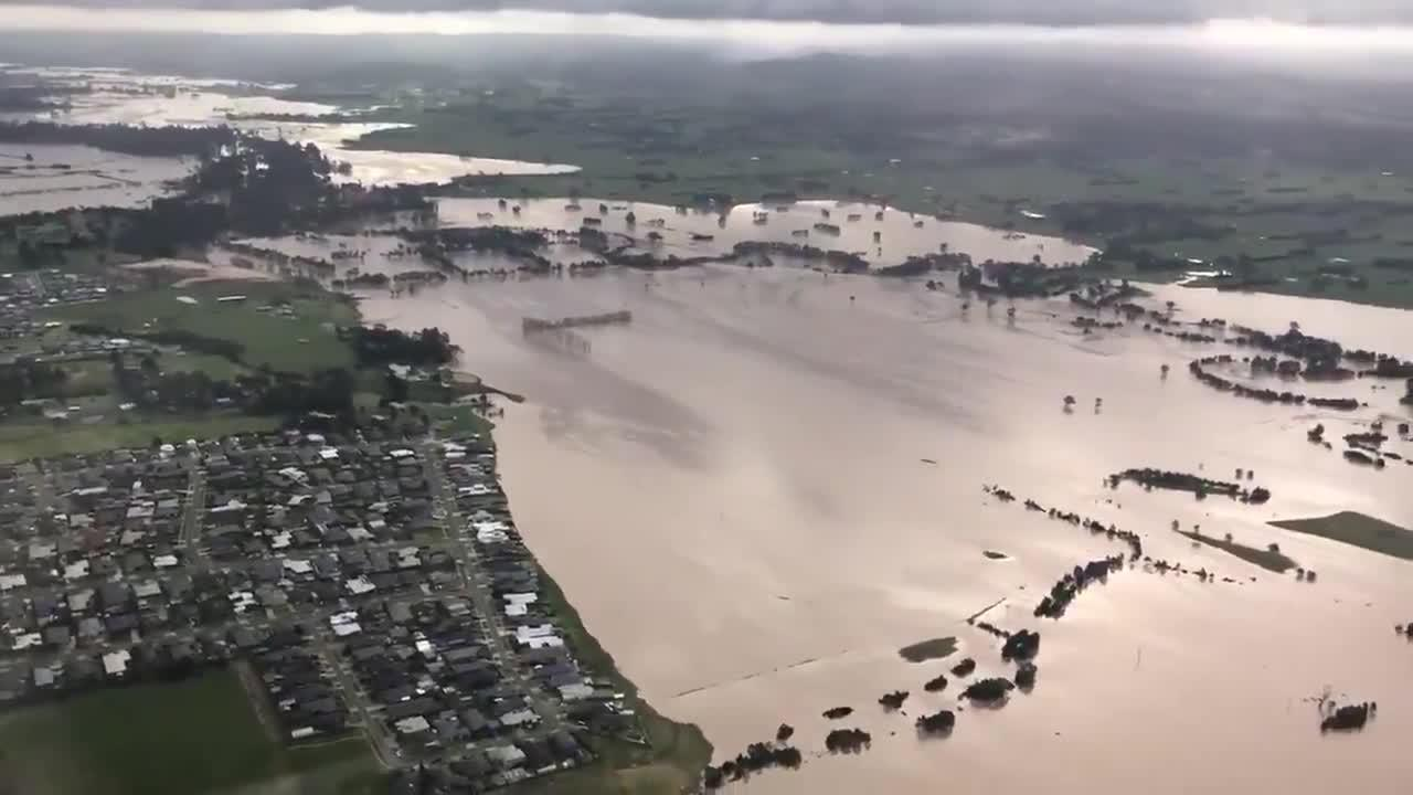 Aerial footage shows extent of flooding in Australia