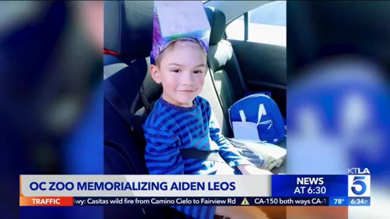 6-year-old Aiden Leos to be memorialized at Orange County Zoo after road rage shooting death