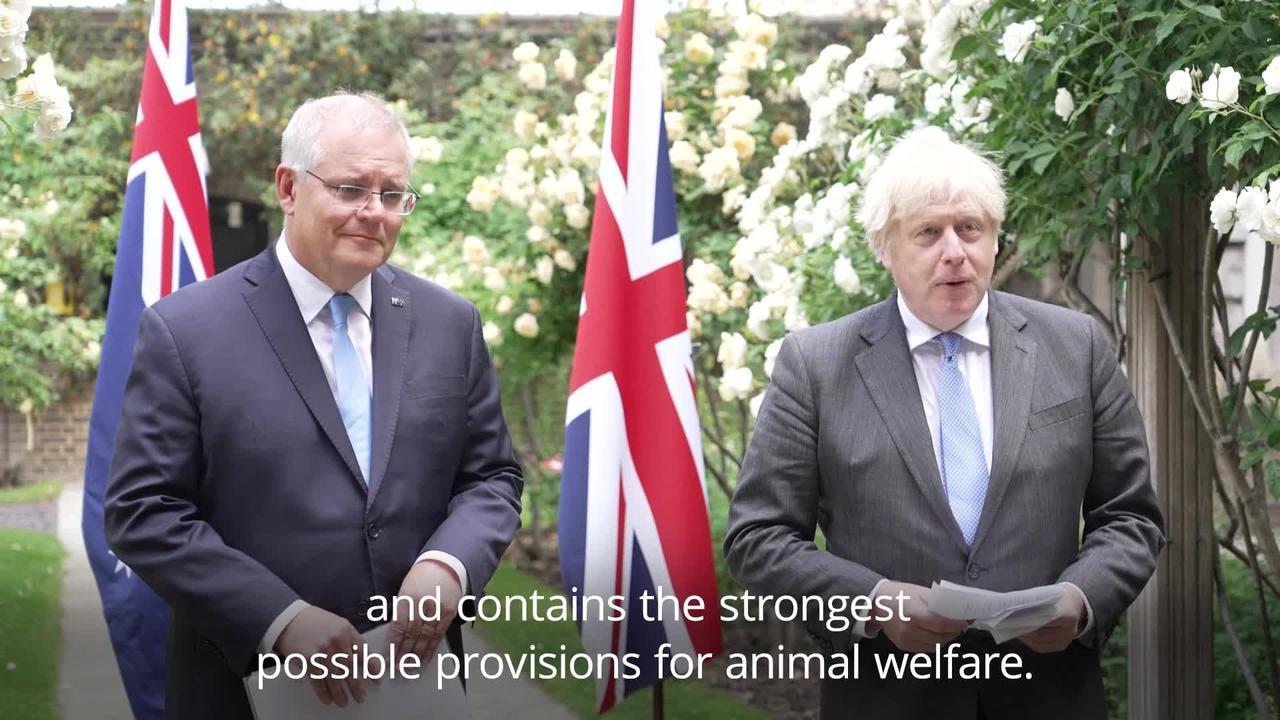 UK-Australia trade deal will benefit British farmers, PM insists