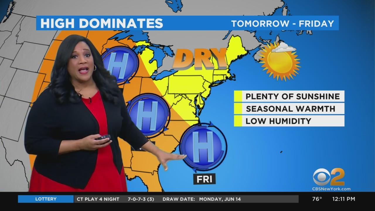 New York Weather: CBS2 Noon Forecast