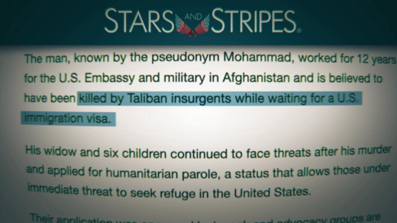 Afghan translators waiting for U.S. visas allegedly being hunted down, killed by Taliban