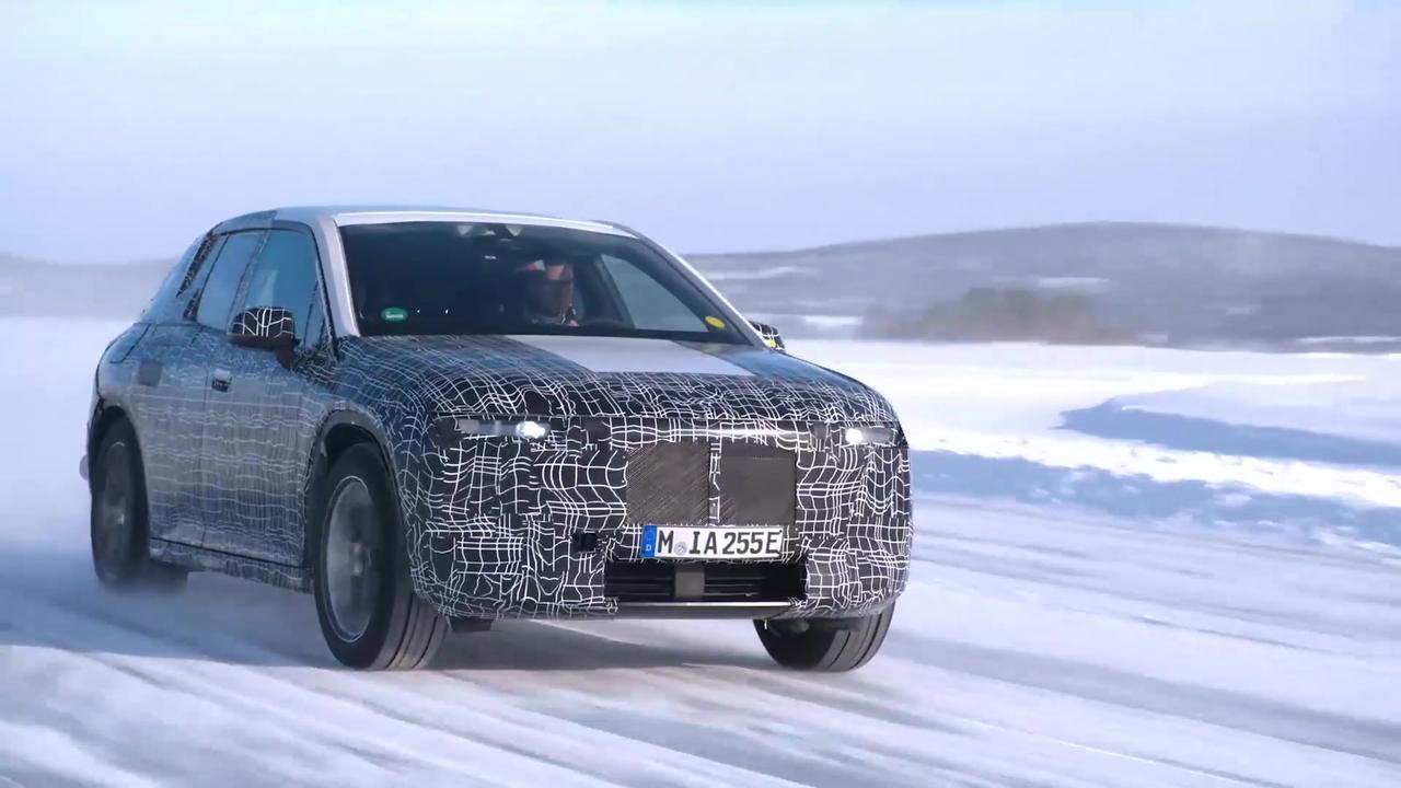 BMW iX - Development - Winter test Sweden