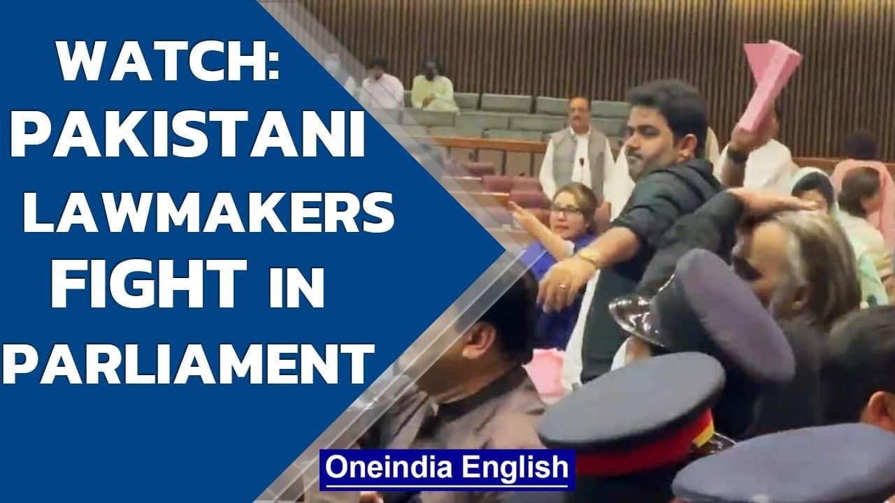 Pakistan: Chaos breaks out in National Assembly over PM Imran Khan's budget proposals  Oneindia News