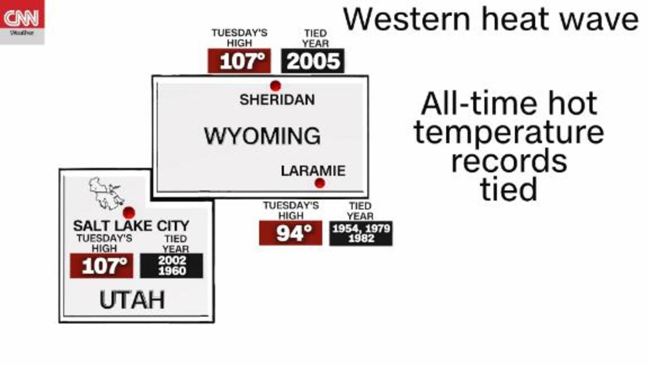 Western heat wave topping all-time heat records