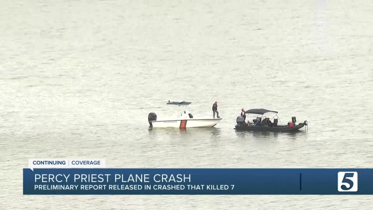 NTSB releases preliminary report of deadly plane crash in Percy Priest Lake