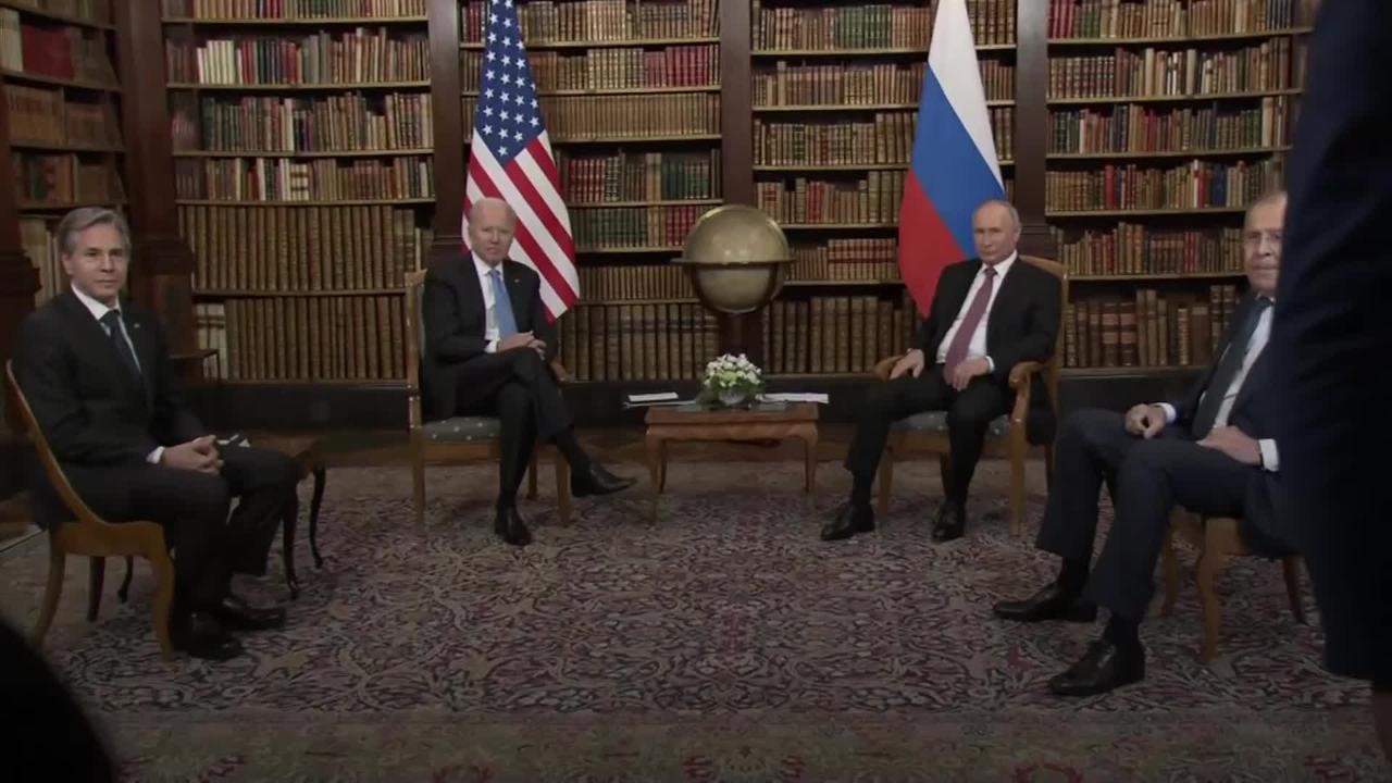 Biden and Putin open summit with a handshake