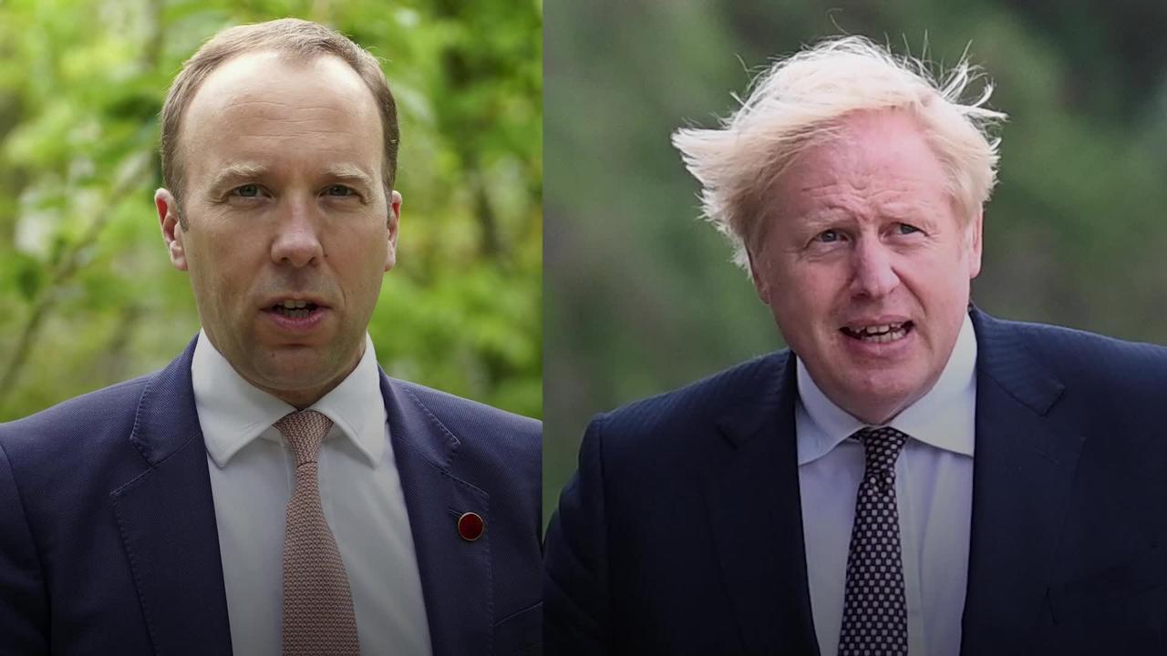 Boris Johnson described Hancock as 'totally hopeless', according to Cummings