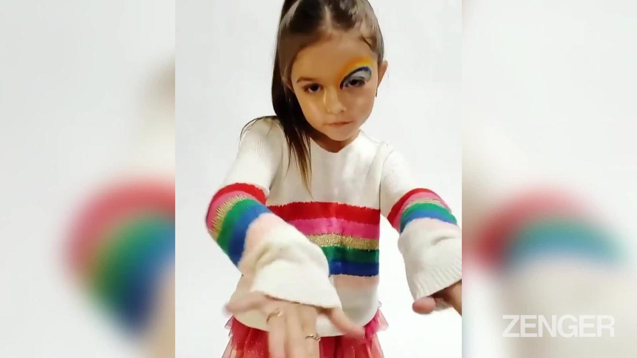 Kid Kardashian:  Eight Year Old Girl Who's A Fashion Sensation After Being Discovered By KUWTK
