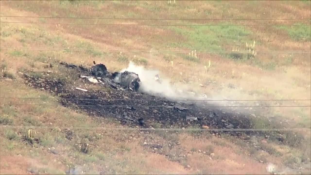 Raw video: Small plane crashes near Castle Pines
