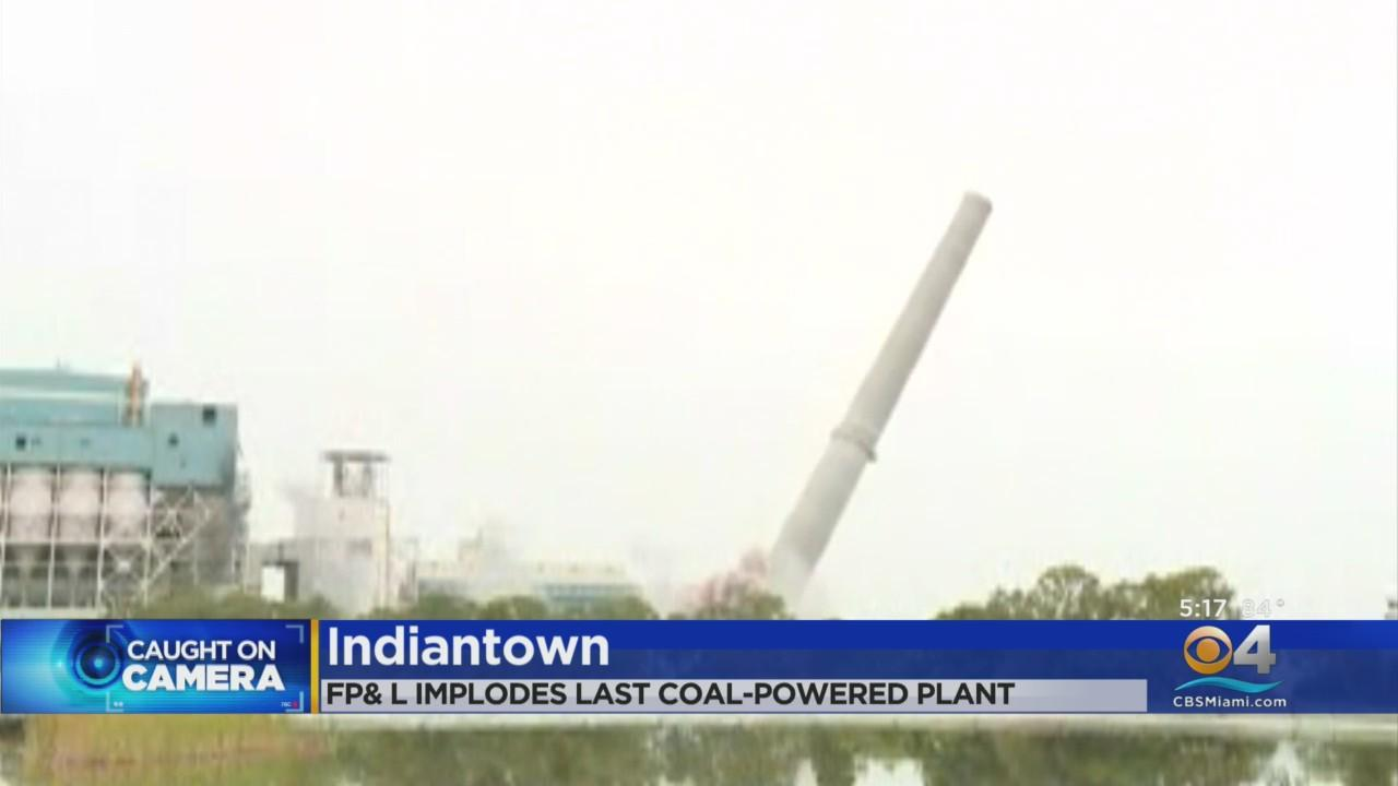 Florida Power & Light Topples Last Coal Chimney