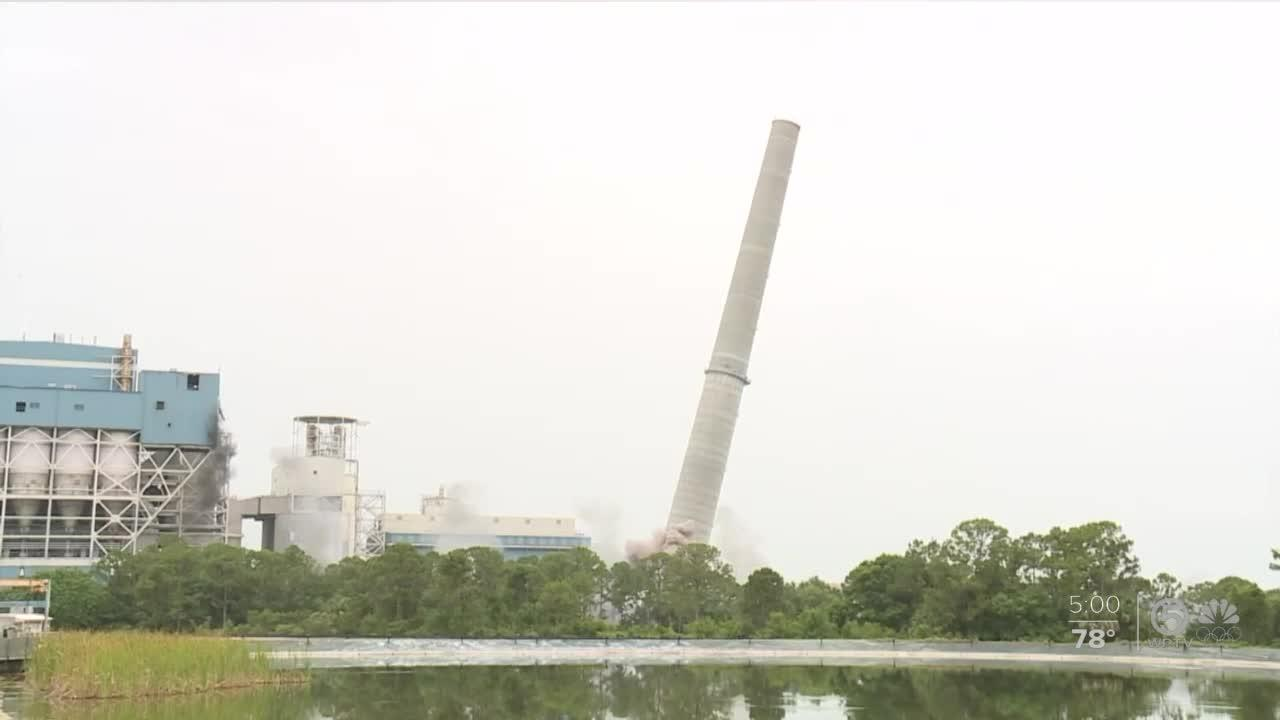 FPL's last coal-powered plant imploded