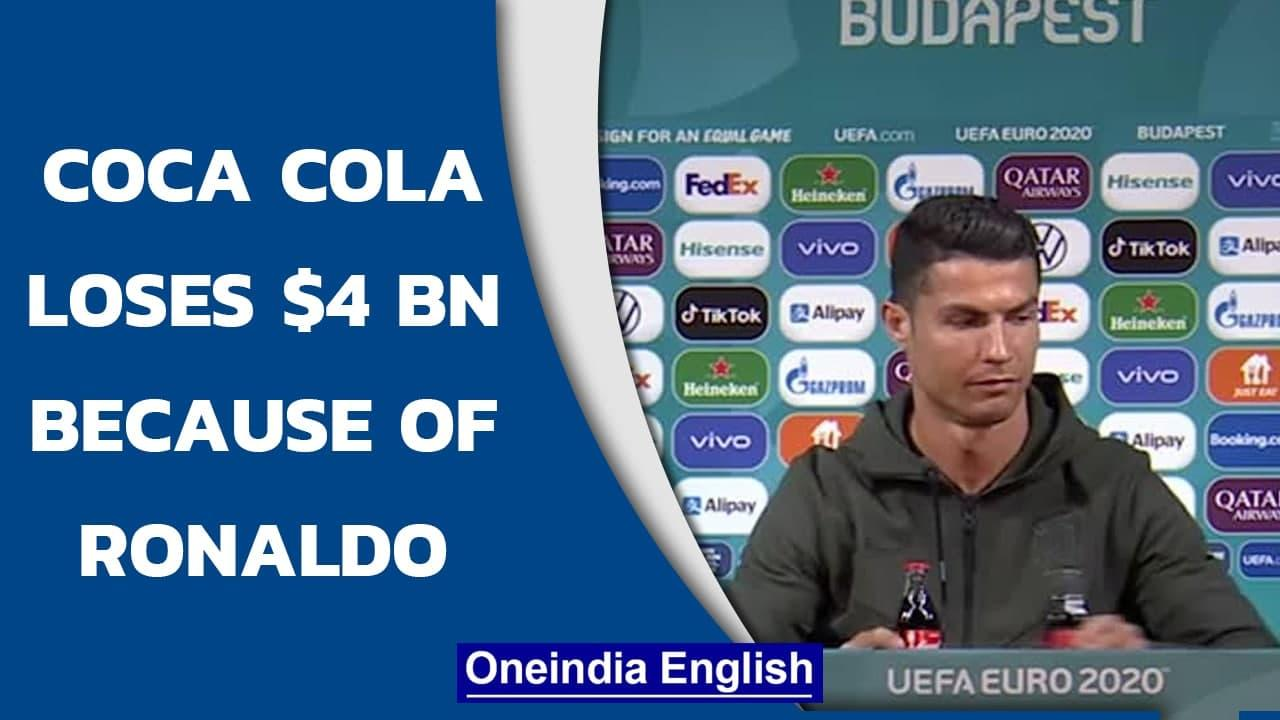 Coca Cola stock prices tumble after Ronaldo snubs drink on camera   Oneindia News