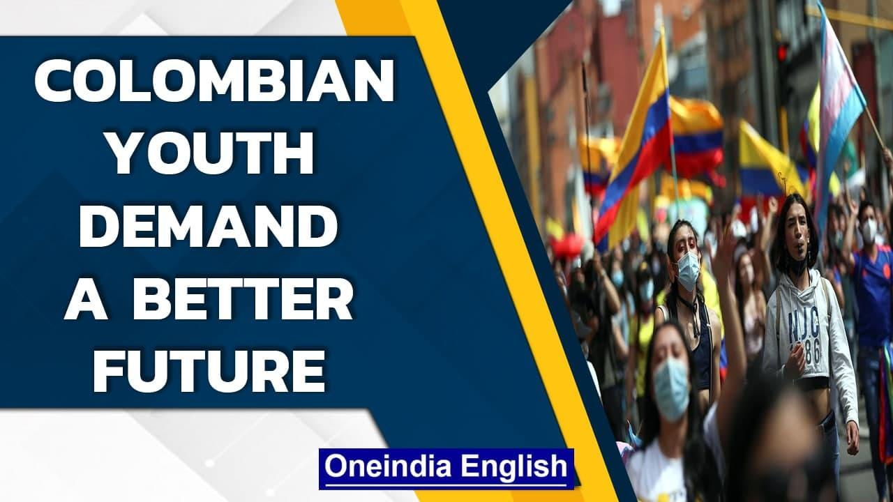 Columbian youth demand end to police violence, repression and better jobs| Oneindia News