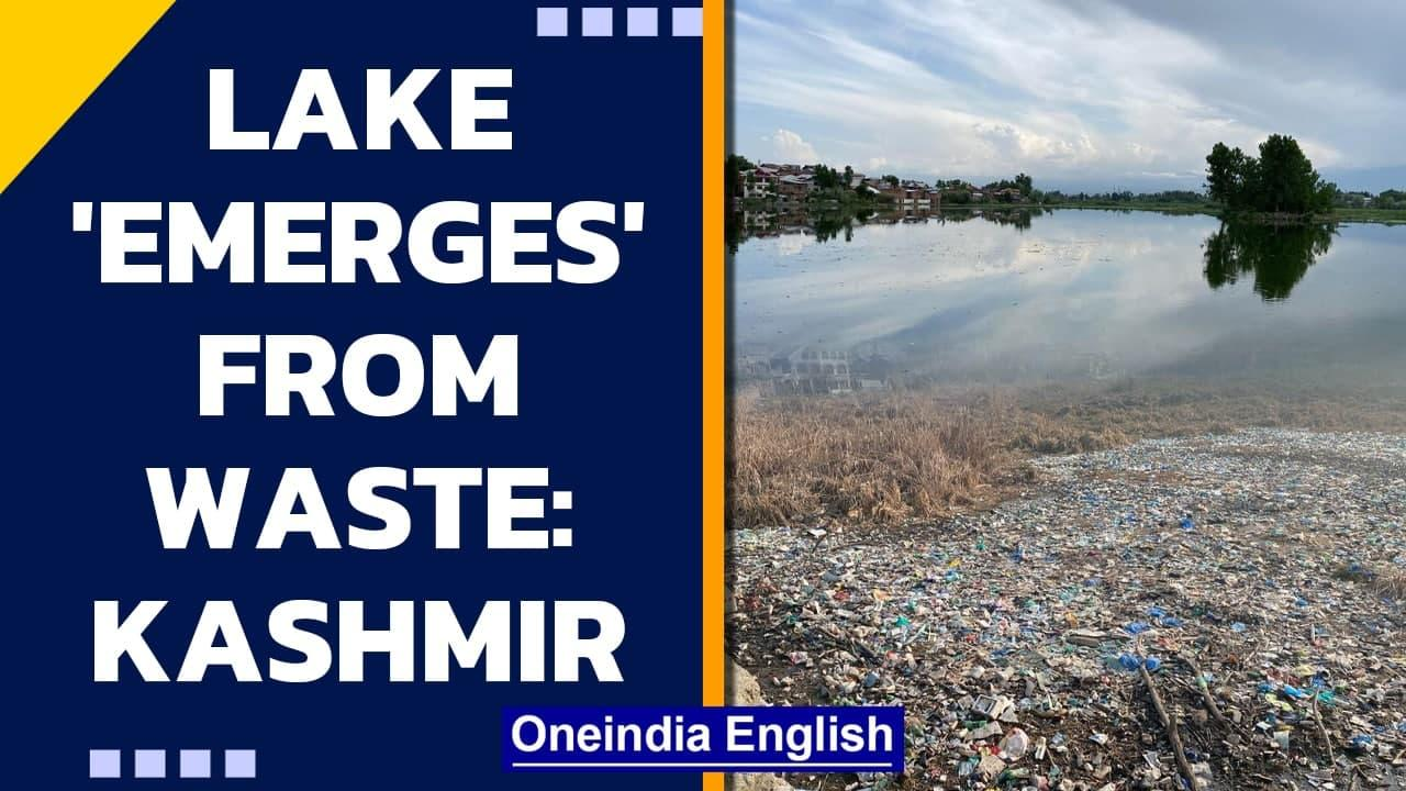 Kashmir: Locals dig out Khushal Sar lake from 30 years of waste: Watch   Oneindia News
