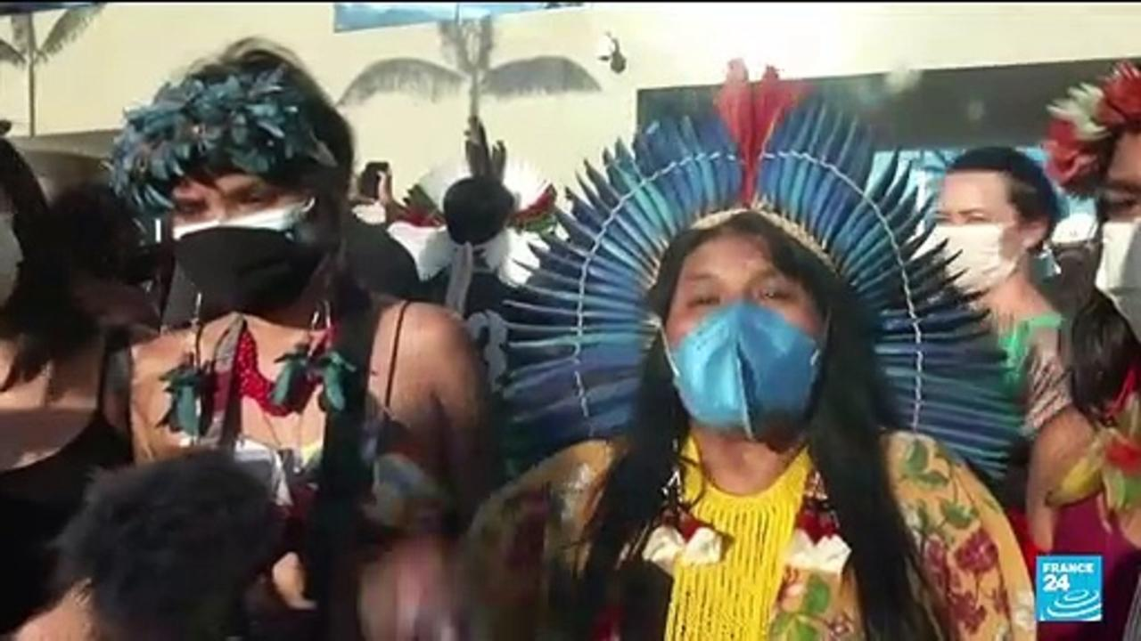 Brazilian indigenous people protest bill curtailing land rights