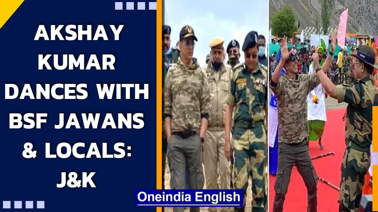 Akshay Kumar dances with BSF Jawans and locals in  Gurez sector of Bandipora| J&K| Oneindia News