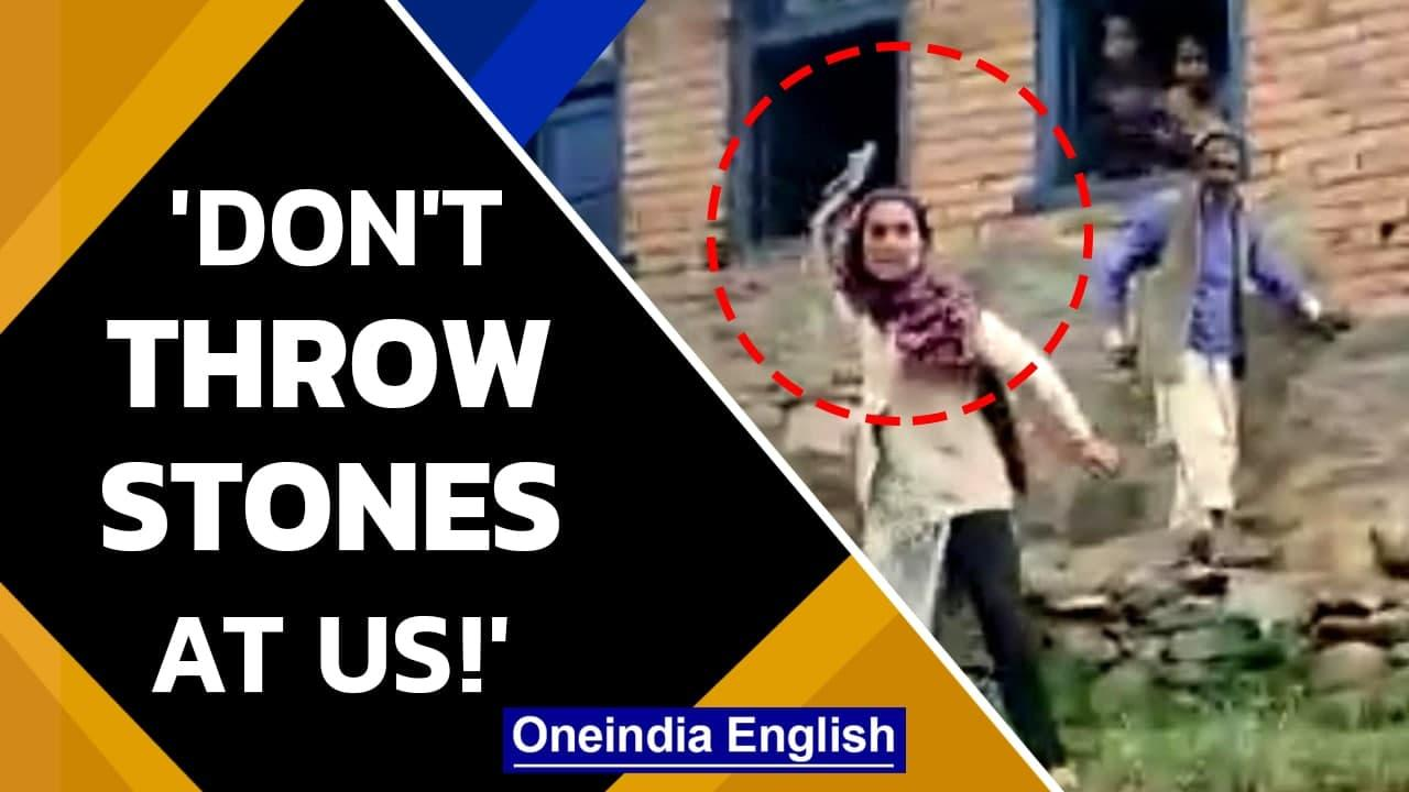 J&K Vaccination team allegedly attacked by people in Zaban Chontimullah   Watch   Oneindia News