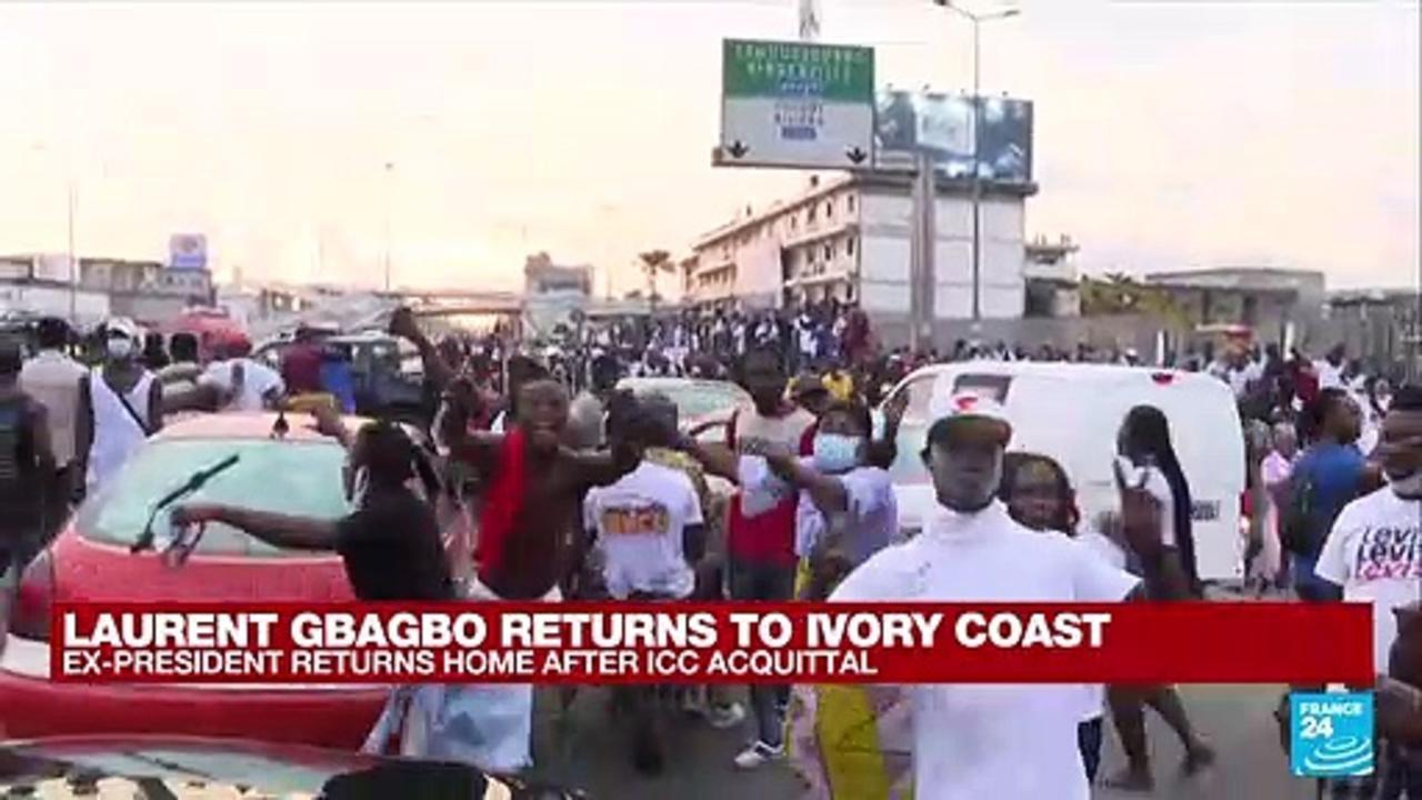 Crowds welcome ex-Ivory Coast president Gbagbo