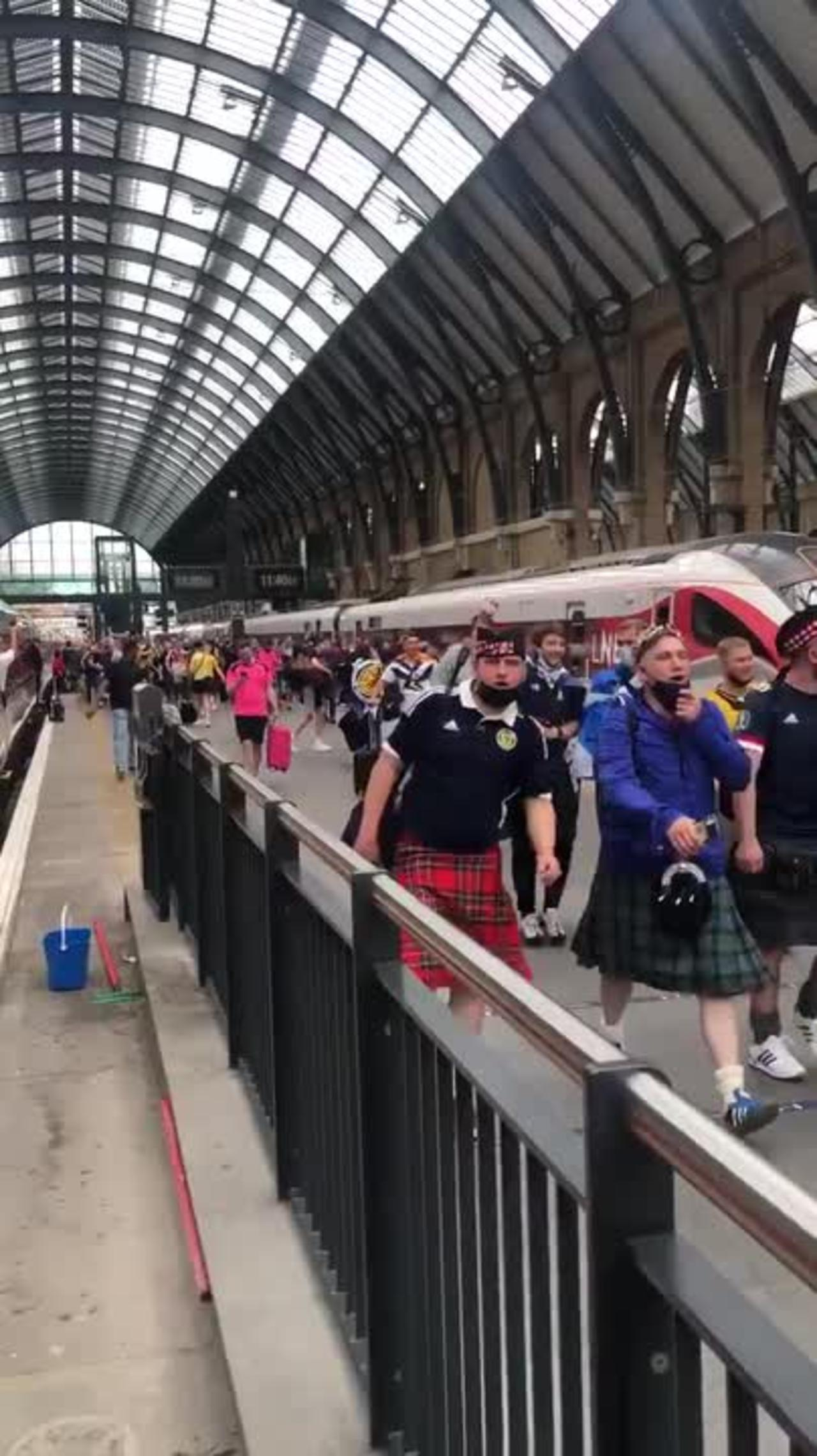 Tartan Army arrives in London ahead of Euro 2020 clash with England at Wembley