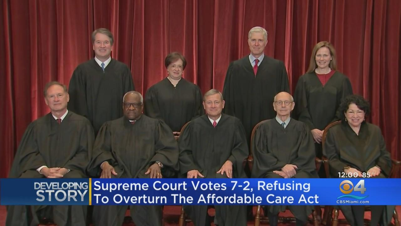 US Supreme Court Refuses To Overturn Affordable Care Act