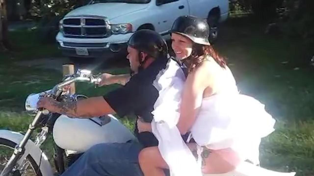'I will always be his wife': Suspected drunk driver hits couple's motorcycle, injuring woman and killing her husband