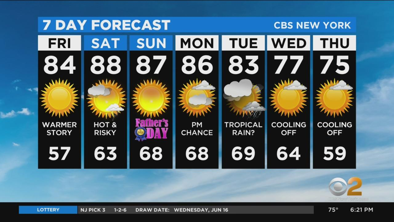 New York Weather: CBS2 6/17 Evening Forecast at 6PM
