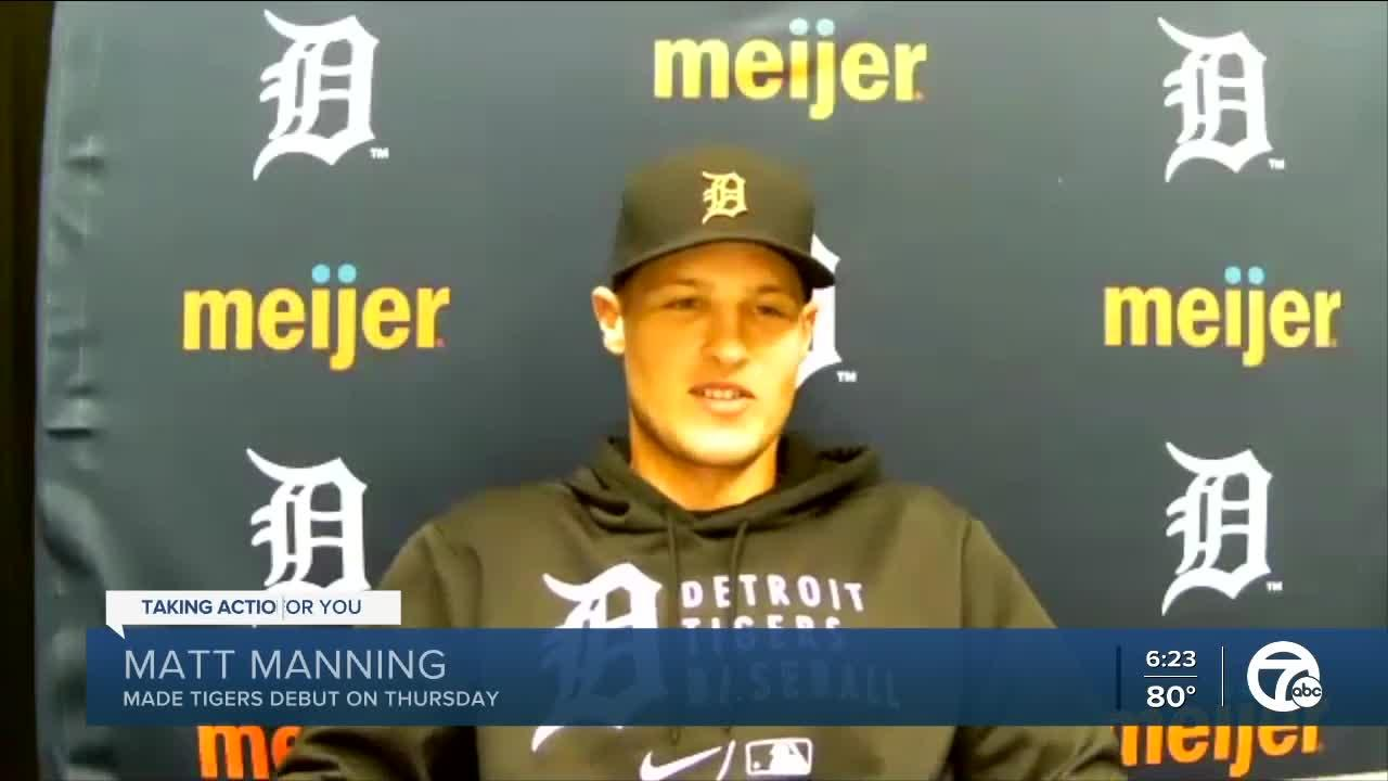 Matt Manning talks about first Tigers start, Miguel Cabrera throwing away his first strikeout ball