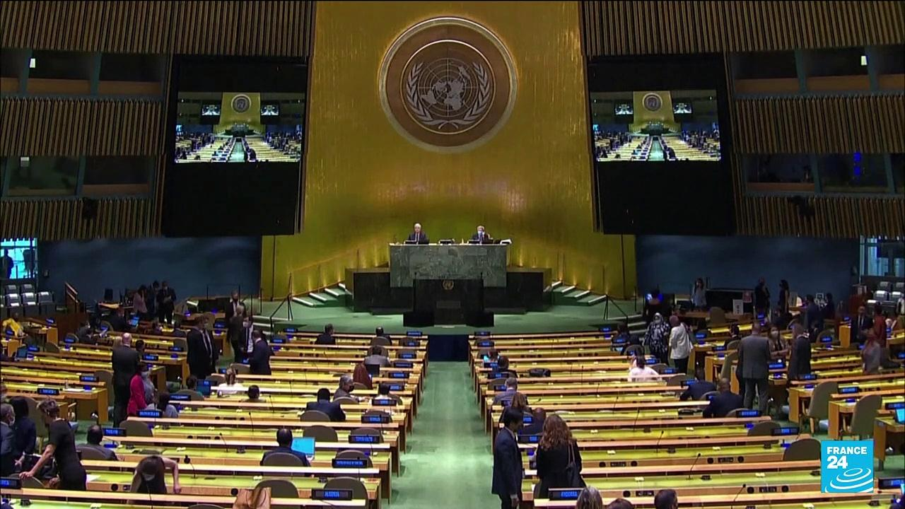 UN assembly condemns Myanmar coup, calls for arms embargo