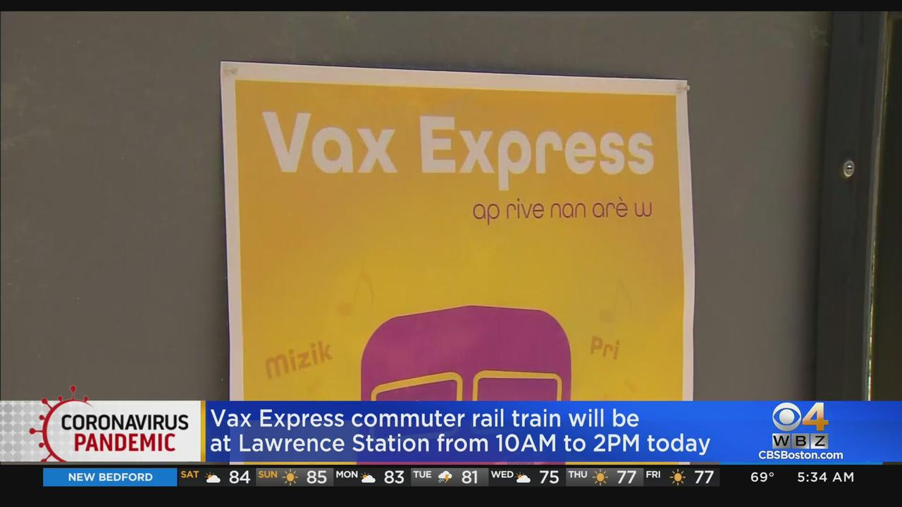 Vax Express Commuter Rail Will Stop In Lawrence Saturday