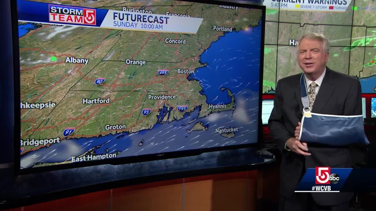 Video: Late-night rain to clear out ahead of Father's Day