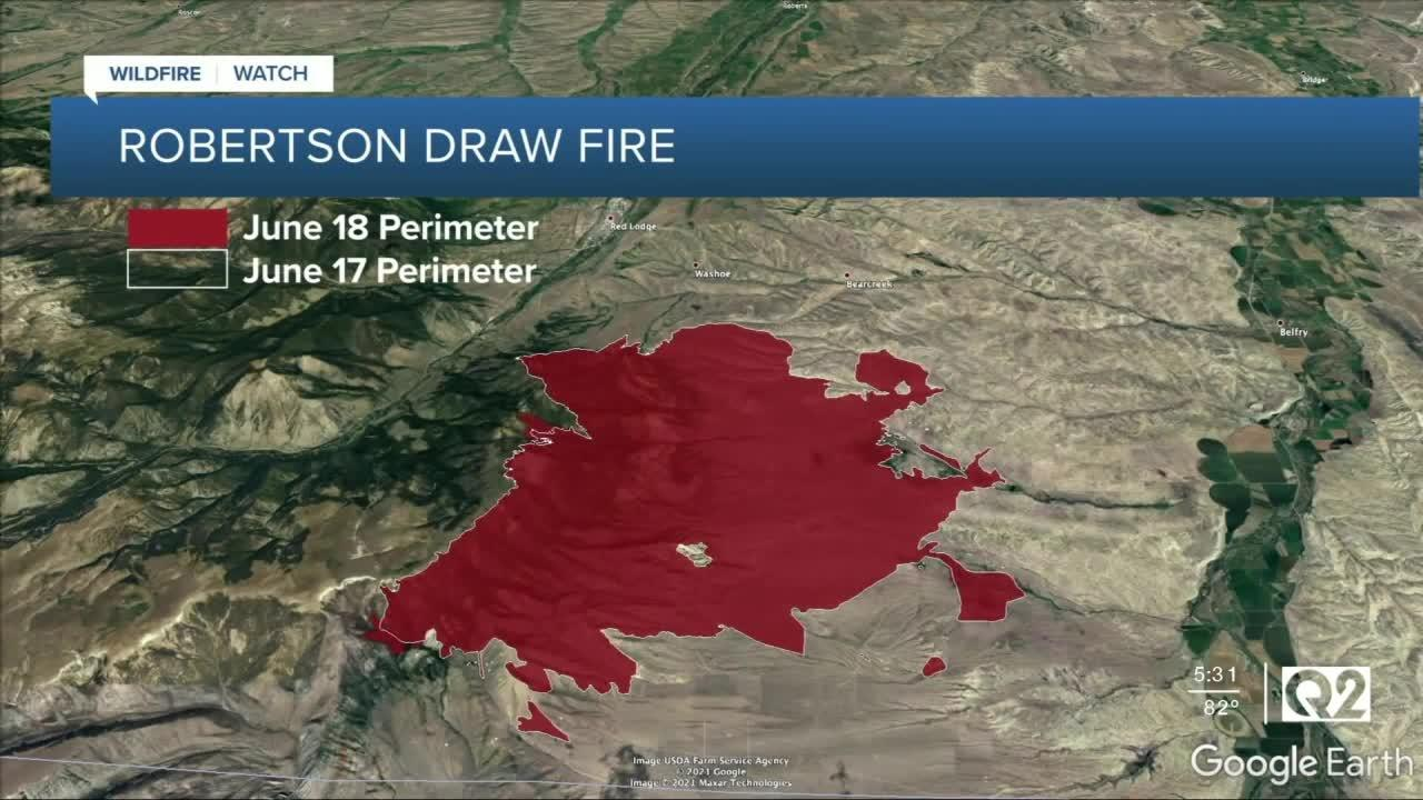Robertson Draw fire remains at 0 percent containment