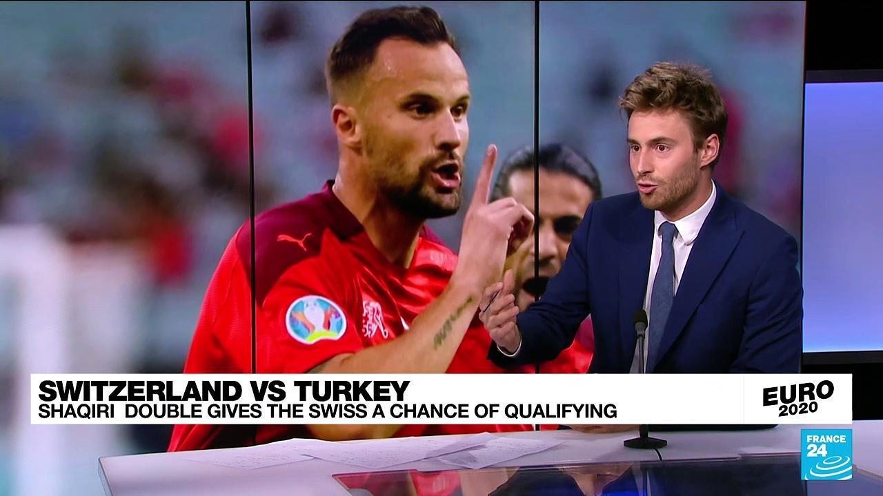 Switzerland beat Turkey 3-1 at Euro 2020