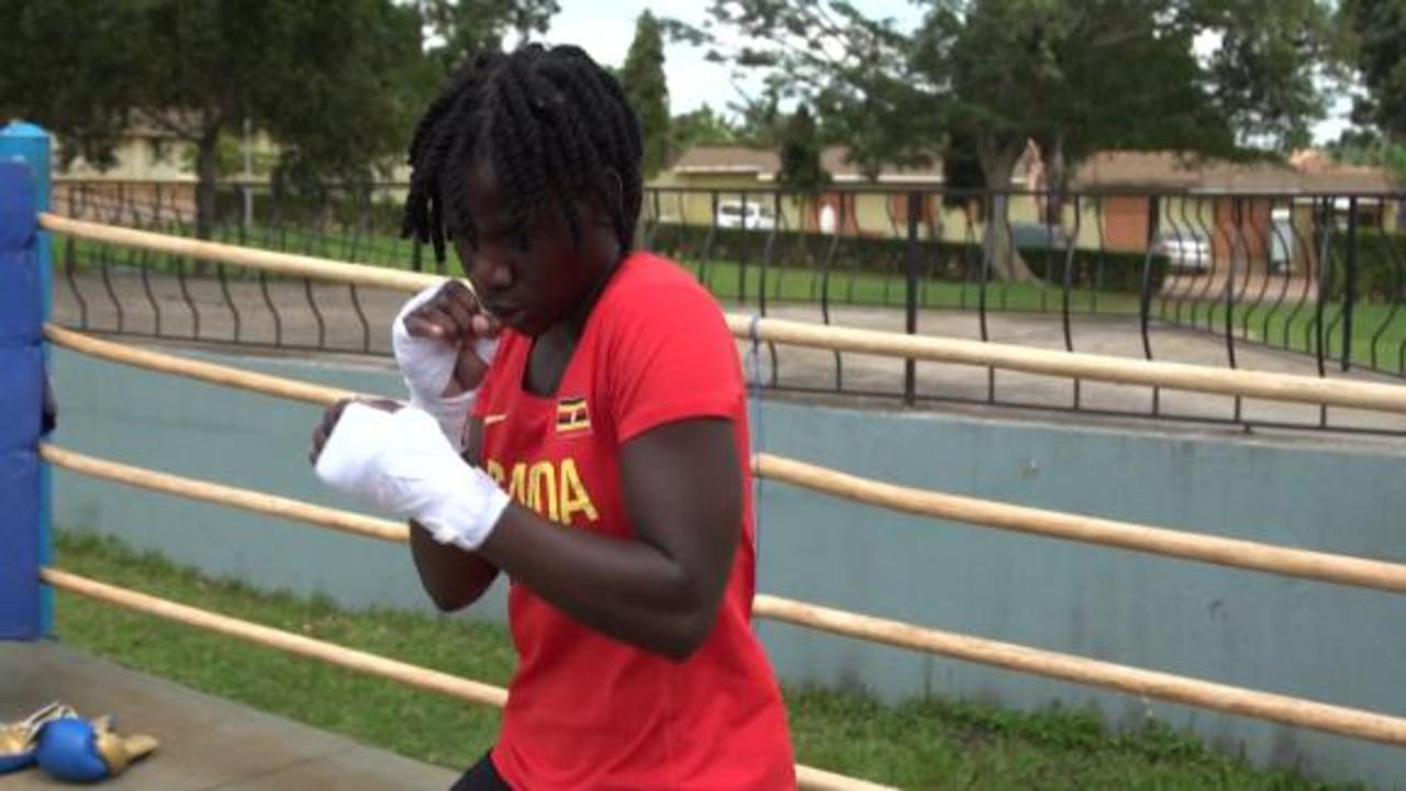 Uganda's first female boxer heads to Tokyo Olympics