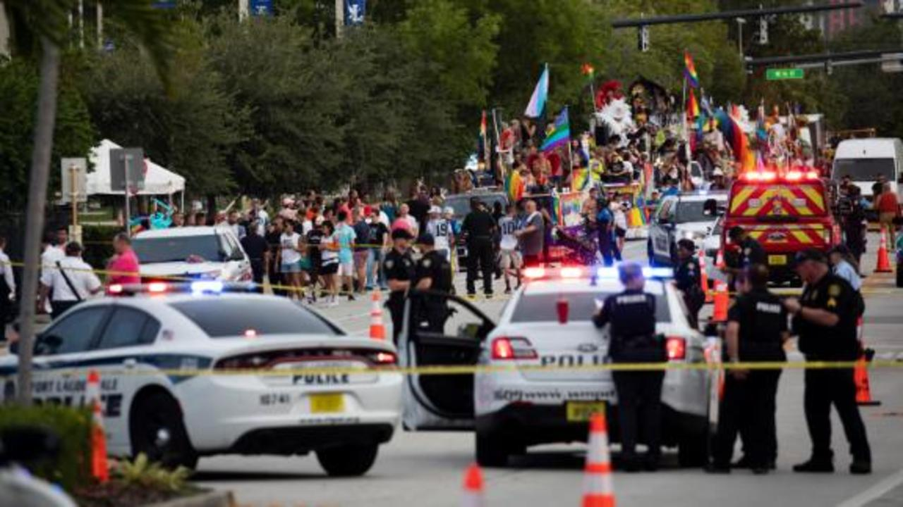 One dead after a truck hit pedestrians at a Florida Pride parade