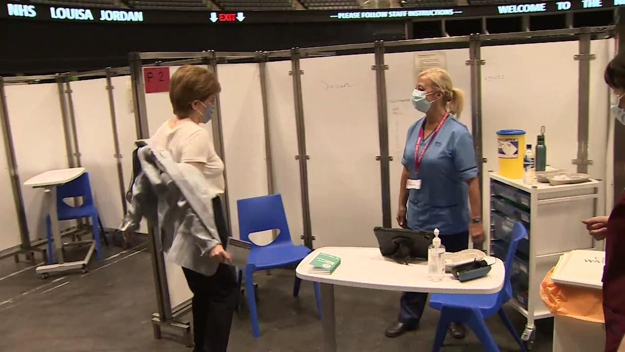 Nicola Sturgeon receives second jab