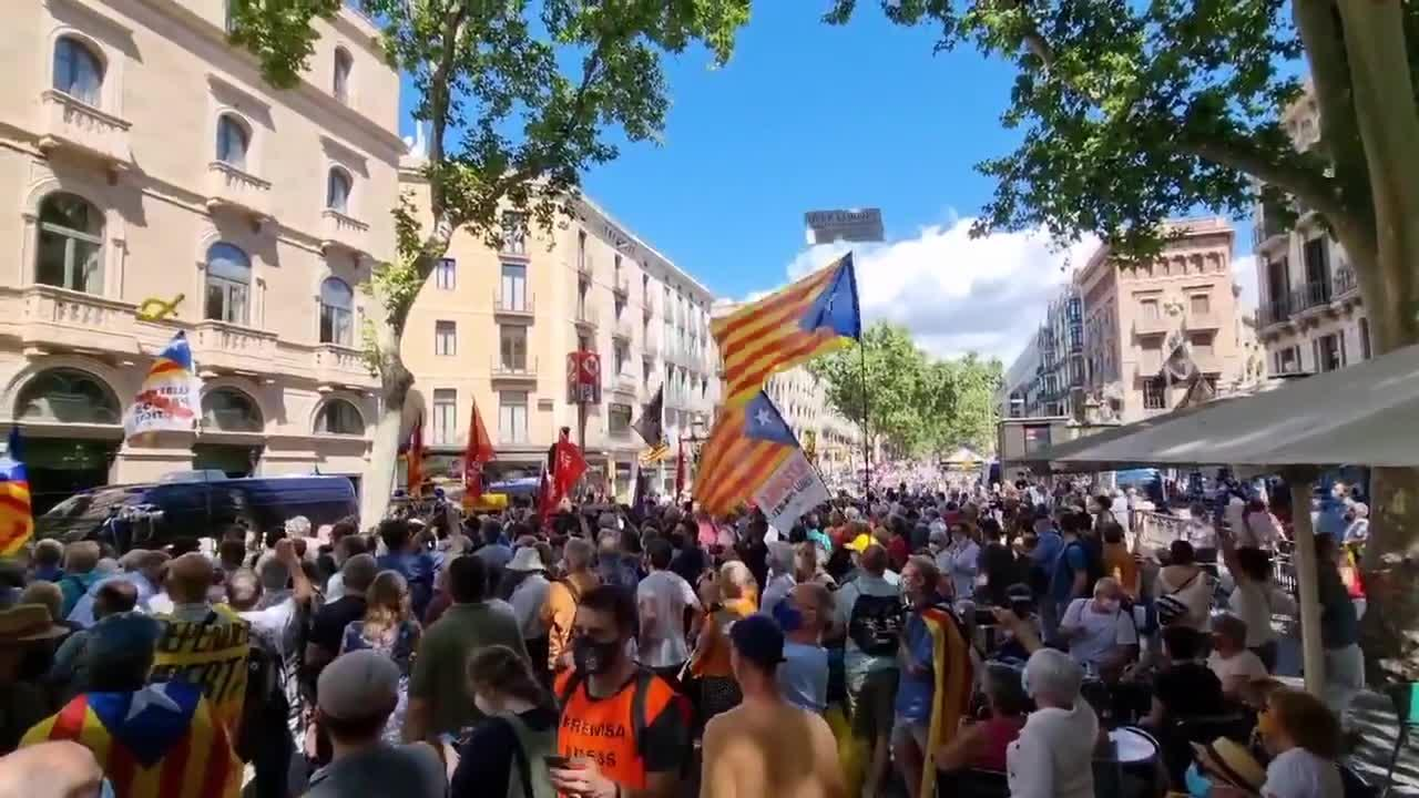 Pro-Catalan independence movement holds rally in Barcelona