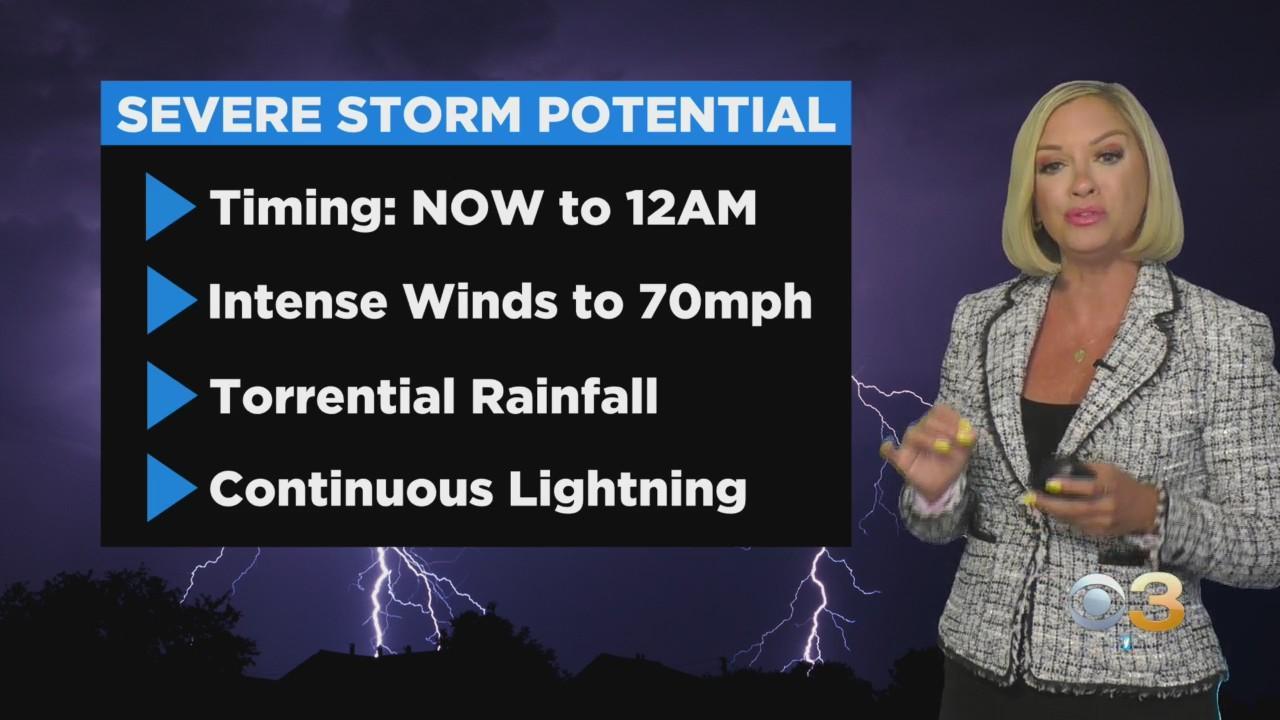 Philadelphia Weather: Severe Storm Threat