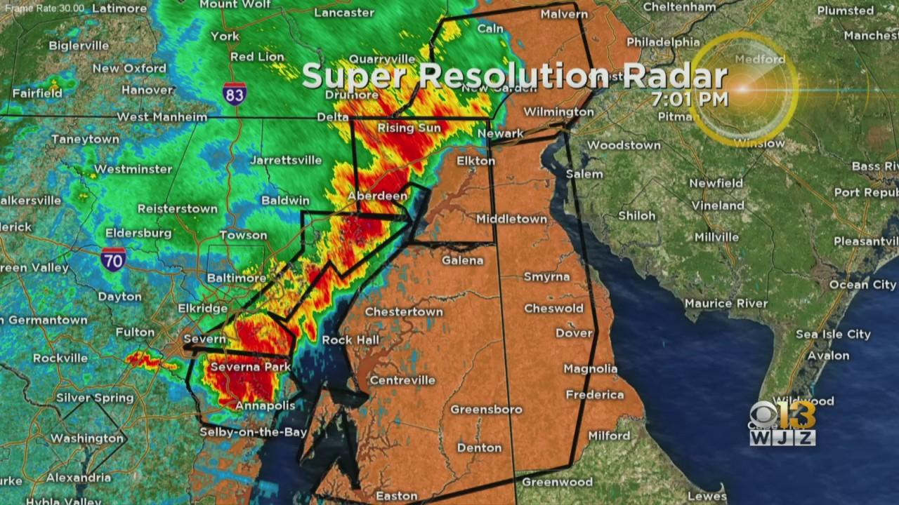 Tracking Severe Weather In Maryland: Reports of Down Trees & Wires